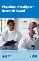 Physician Investigator Research Award brochure