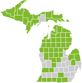 You can buy this plan if you live in one of 61 Michigan counties.
