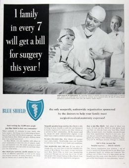 Vintage Blue Shield magazine ad